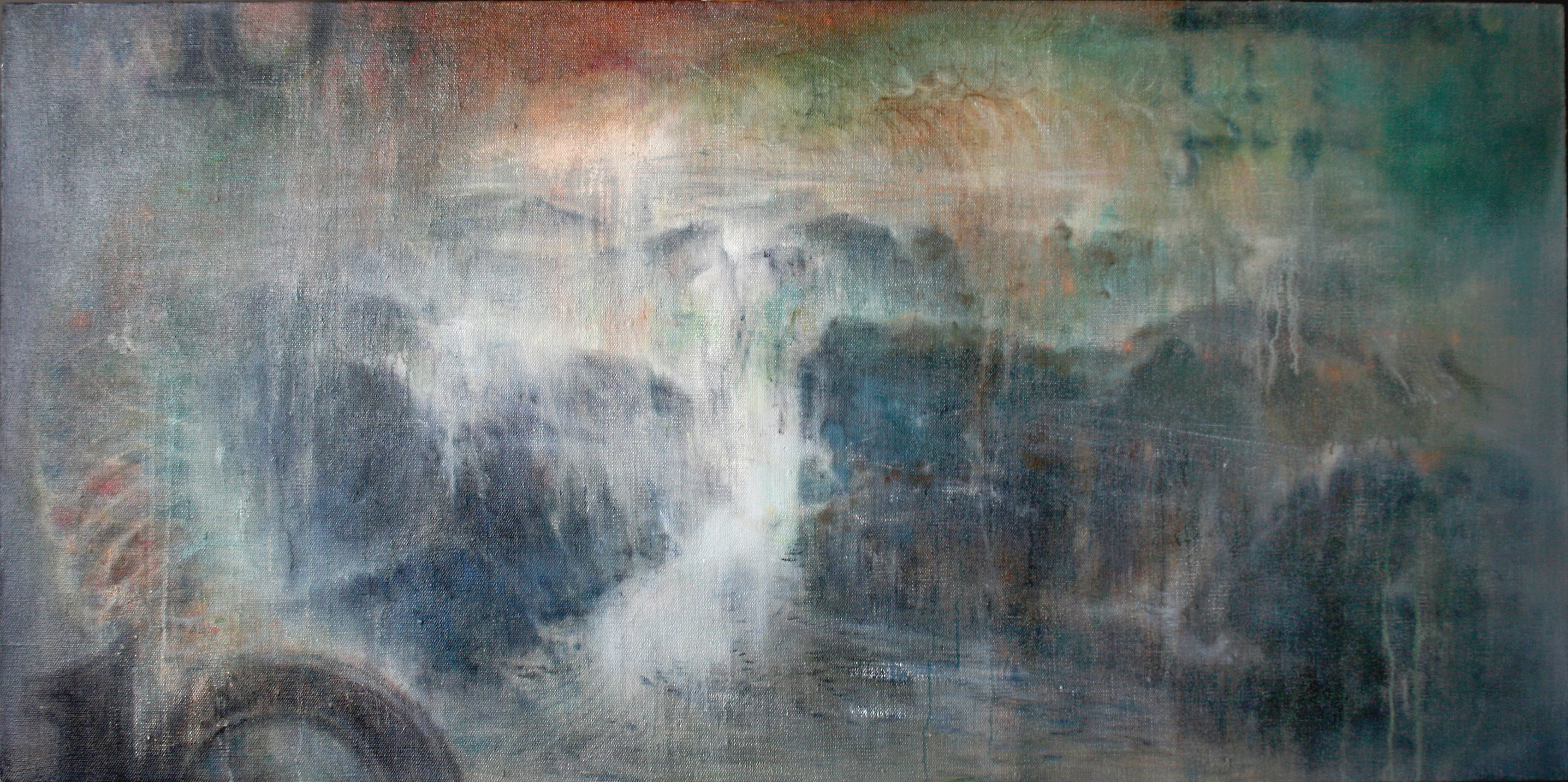 拾的背 70x150cm oil on canvas 2012